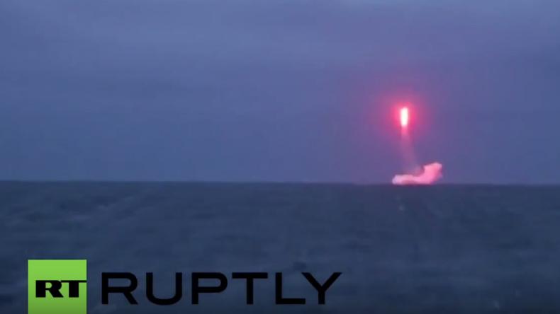 Russische Flotte testet von Atom-U-Boot erfolgreich ballistische Rakete in der Barentssee
