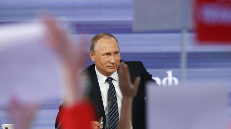 Putin vor der Weltpresse: 1400 Journalisten grillen den russischen Präsidenten