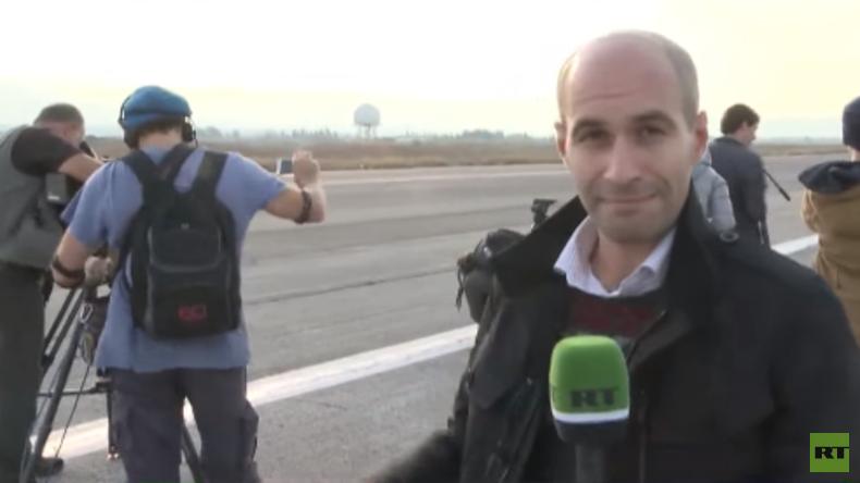 Murat Gastiev, RT, berichtet von den Berichtenden