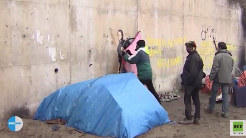 """War das sein Plan? Banksy-Bild im """"Dschungel von Calais"""" lässt die Kasse der Flüchtlinge klingeln"""