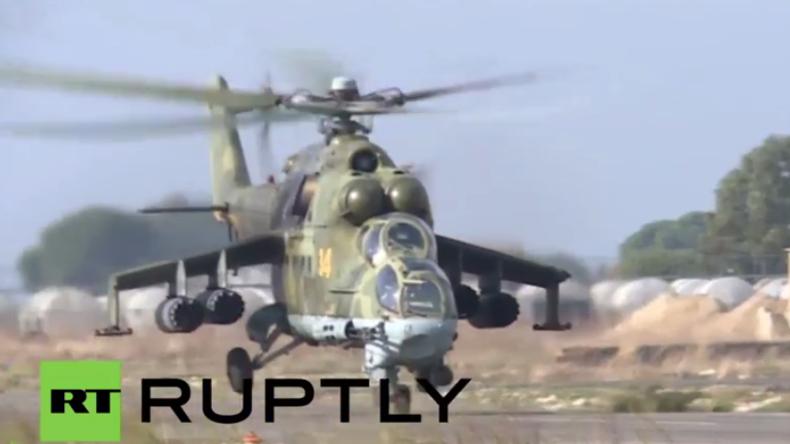 Syrien: Russische Kampfhubschrauber bereiten sich auf Einsätze gegen den IS vor