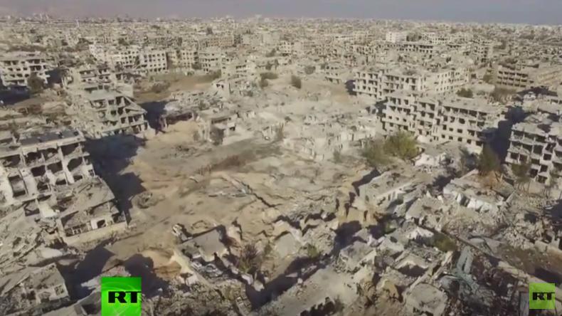 Syrien: Drohnenaufnahmen zeichnen ein Bild der Zerstörung