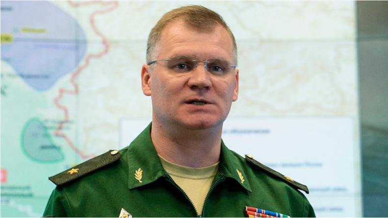 Sprecher des russischen Verteidigungsministeriums Generalmajor Igor Konaschenkow