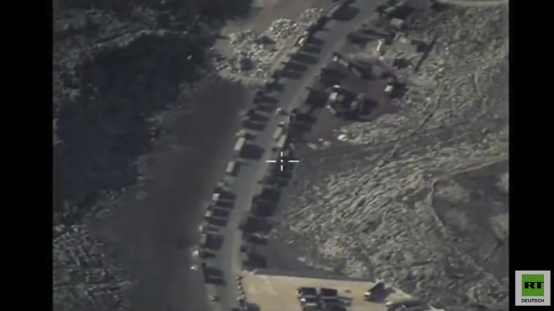 Syrien: Russland veröffentlicht Video von IS-Tankwagen bei ungehinderten Grenzpassagen in die Türkei