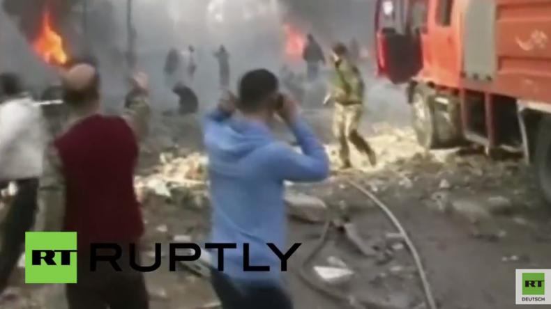 Syrien: Schreckliche Szenen nach Dreifach-Bombenanschlag - Über 30 Menschen sterben in Homs