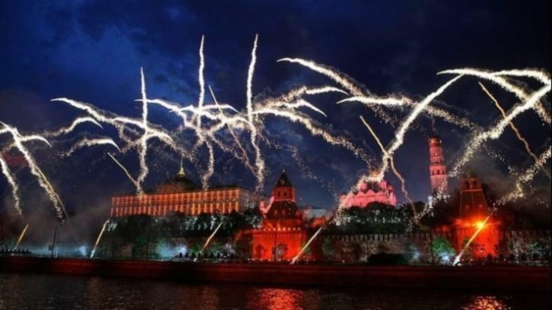 Live ab 21:30 Uhr: Silvesterfeuerwerk am Kreml in Moskau