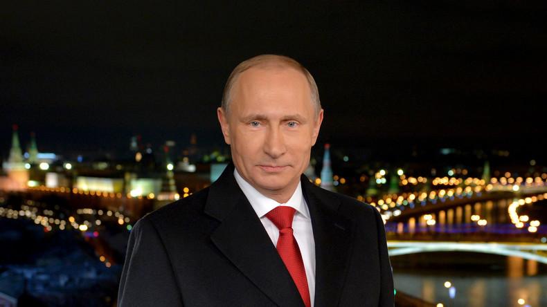Russlands Präsident Wladimir Putin hält Neujahrsansprache ans russische Volk