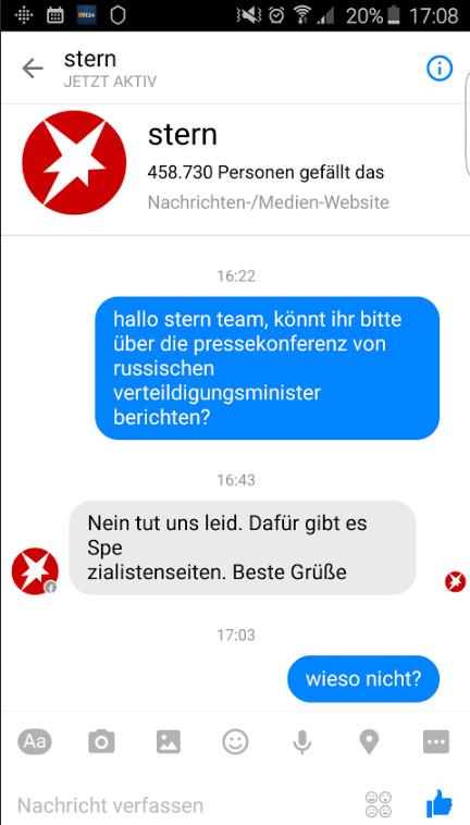 Screenshot Stern - Zugeschickt von einem RT Deutsch Leser