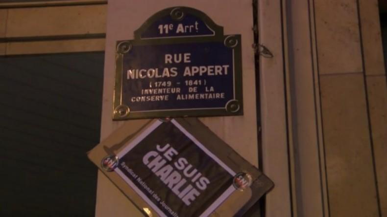Live: 1 Jahr nach den Terroranschlägen in Paris - Gedenkzeremonie und -tafeln für die Opfer