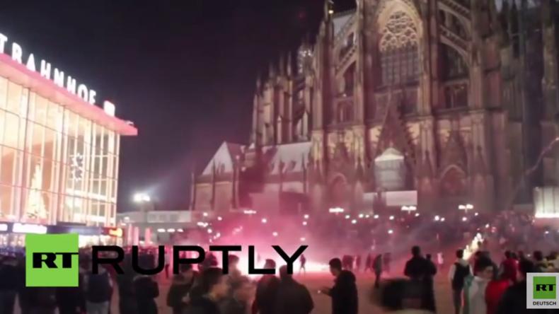 Köln: Chaos in der Silvesternacht am Hauptbahnhof – Raketen wahllos in Menschenmengen geschossen