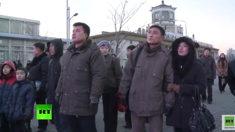 Verkündung des Wasserstoffbombentests und Reaktionen von Menschen in Nordkorea