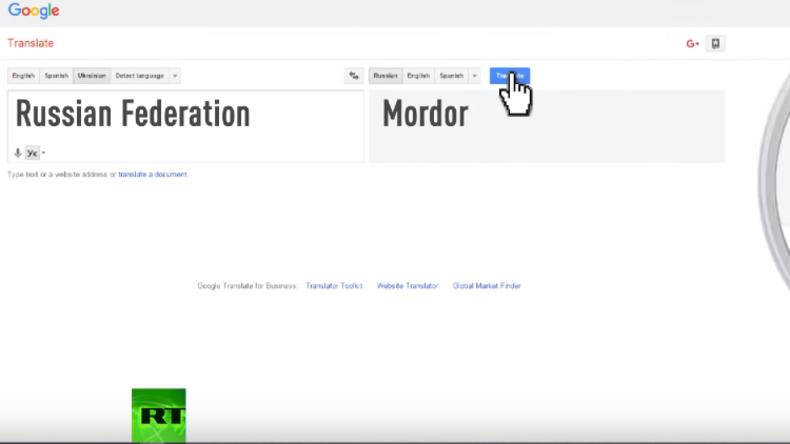 In der Hand von Trollen? Google übersetzt Russische Föderation als Mordor, Land des Bösen
