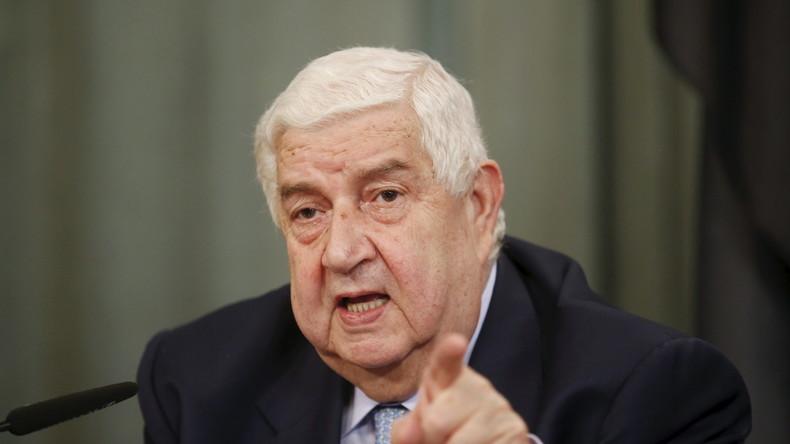 Syrischer Außenminister: Regierung beteiligt sich an Gesprächen mit syrischer Opposition in Genf