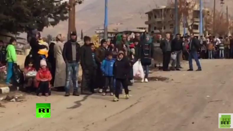 Syrien: Zivilisten fliehen aus belagerter Stadt Madaja vor Hungersnot und Rebellen