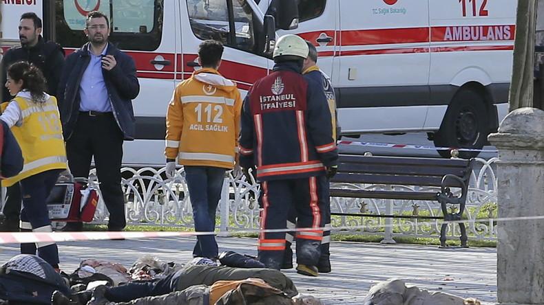 Istanbul-Selbstmordanschlag: 10 Tote - Türkische Behörden vermuten syrischen IS-Kämpfer als Täter