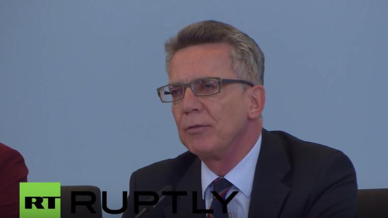 Live: Innenminister de Maziere gibt Pressekonferenz nach Anschlag in Istanbul