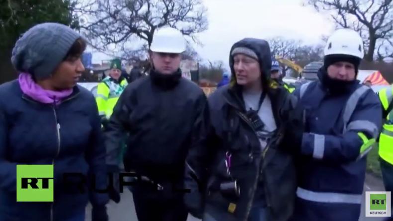 England: Neun Anti-Fracking-Protestler verhaftet - Protestlager geräumt