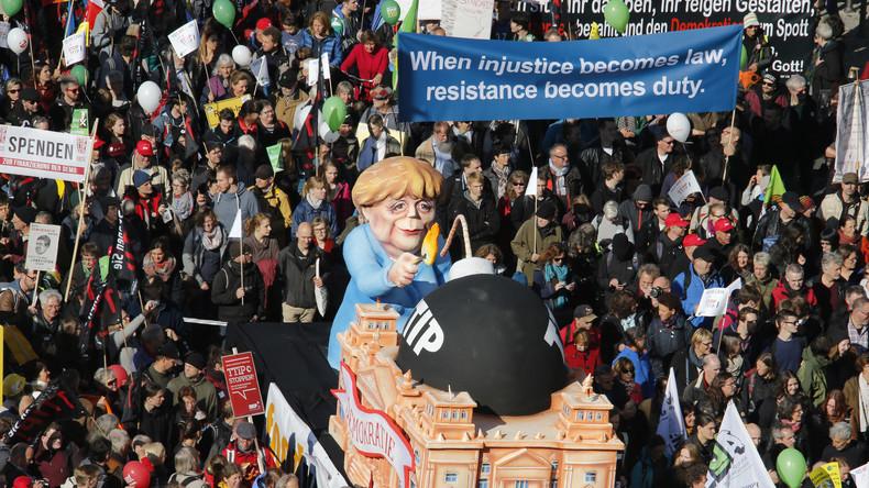 Kanzlerin Merkel möchte Unterschriften von 1,6 Millionen Bürgern gegen TTIP nicht entgegennehmen