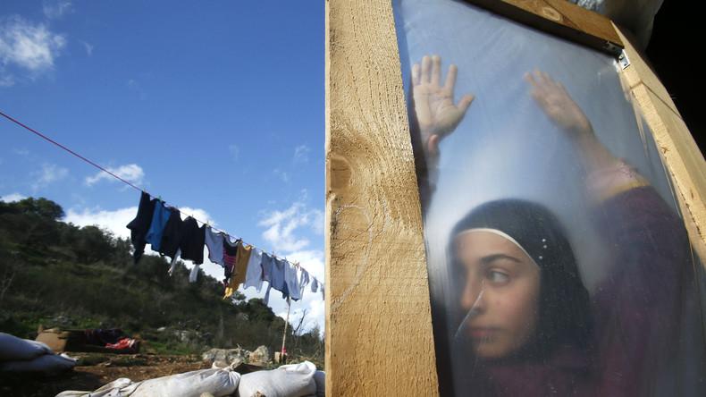 Geflüchtetes syrisches Mädchen in Ketermaya, dem Süden von Beirut, Januar 2015.