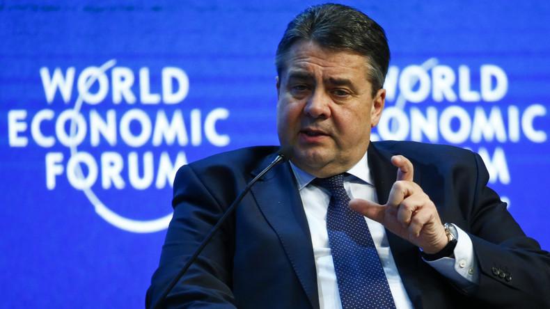 """46. Weltwirtschaftsforum: Diskussion """"Von Migration zur Integretation"""" mit Sigmar Gabriel"""
