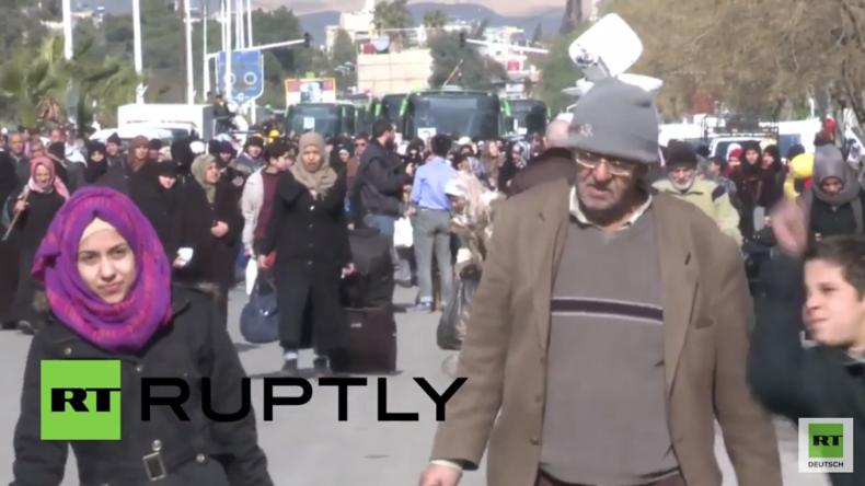 Wieder zu Hause: IS-Kämpfer abgezogen - Hunderte Kriegsflüchtlinge kehren zurück nach Damaskus