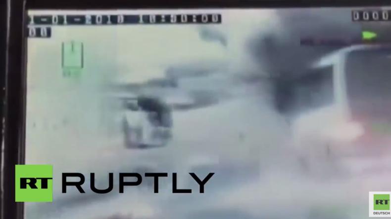 Türkei: Dashcam zeigt Bombenanschlag auf Polizeibus in Nusaybin