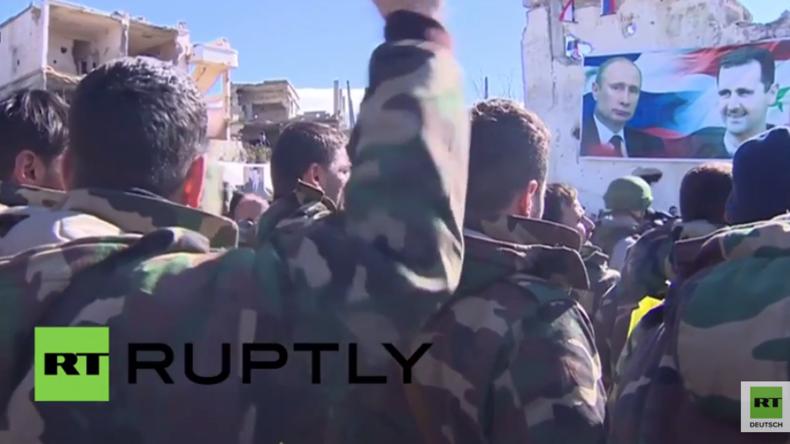 Syrien: Syrisch Arabische Armee befreit mit russischer Hilfe Rabia und feiert den Sieg