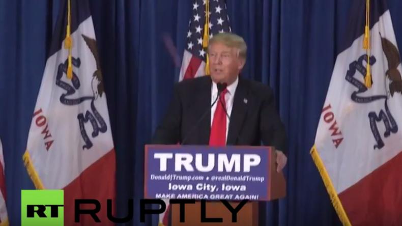 """""""Heil Trumpler!"""" - Tomaten-Attacke auf Donald Trump bei Wahlkampfveranstaltung in Iowa"""