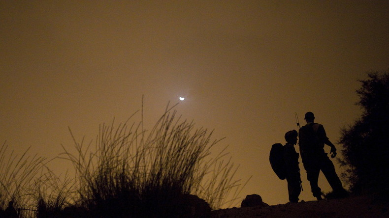 Israelische Soldaten bei einer nächtlichen Übung