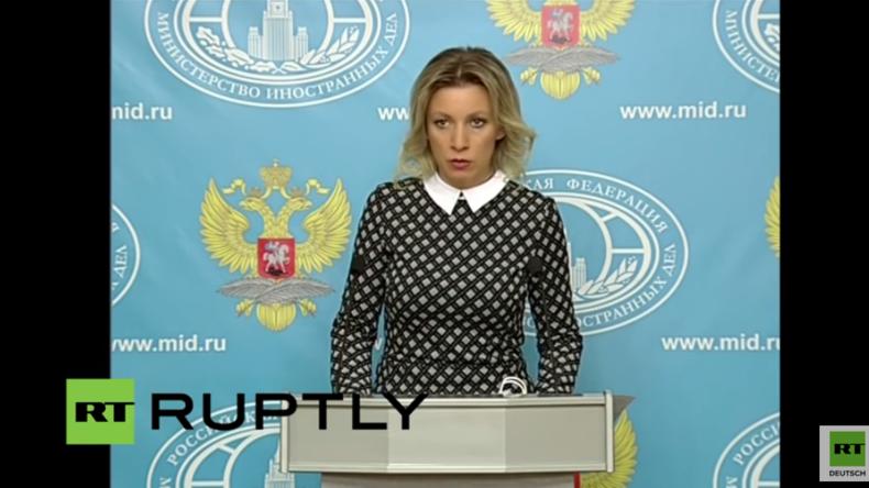 Live: Wöchentliche Pressekonferenz der Sprecherin des russischen Außenministeriums Zacharowa