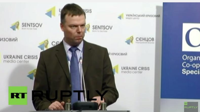 Live: Stellvertretender OSZE-Chef-Beobachter Alexander Hug gibt Pressekonferenz in Kiew