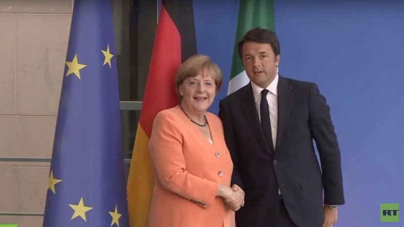 Live: Kanzlerin Merkel und Italiens Premier Renzi halten gemeinsame Pressekonferenz