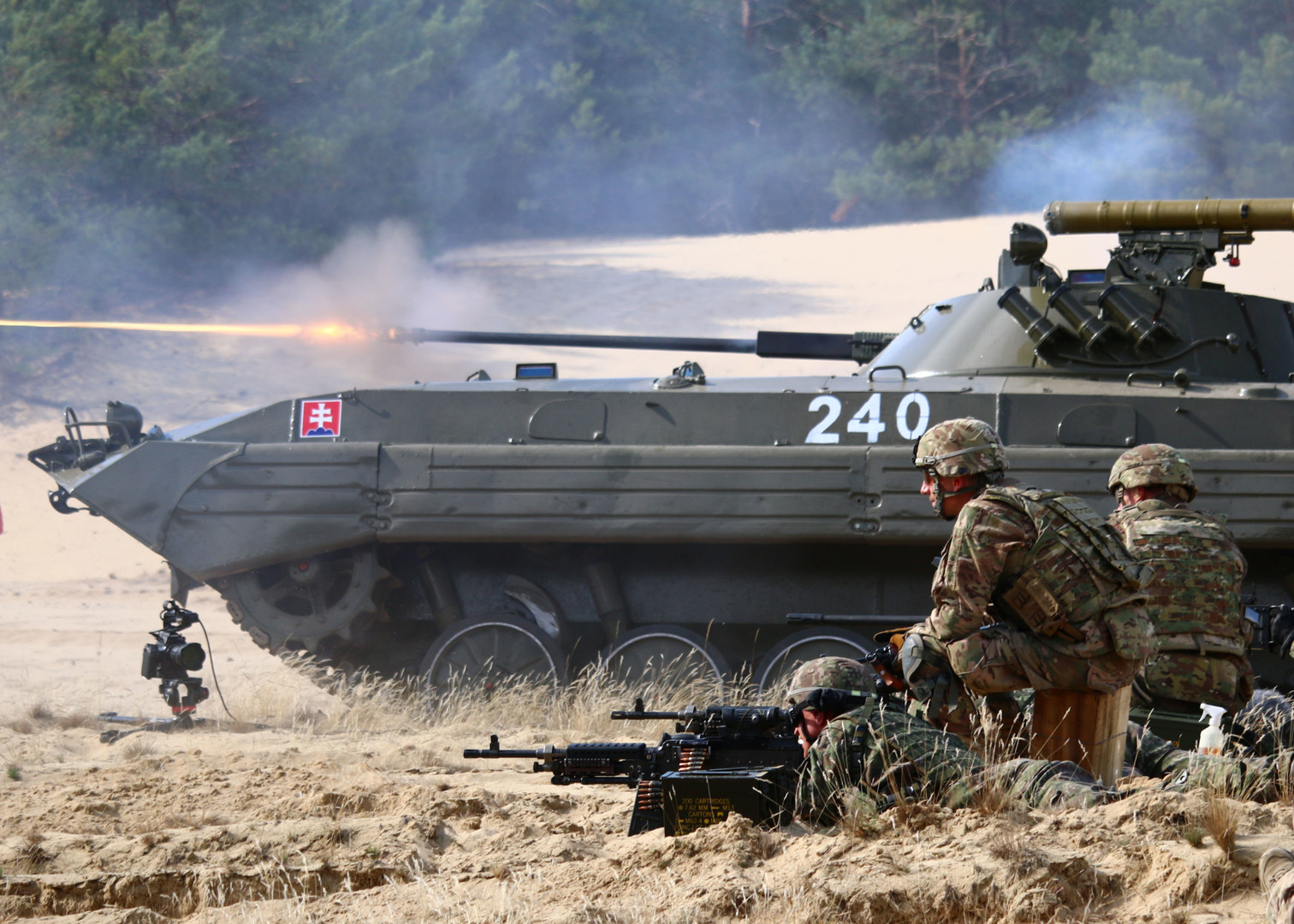 Gemeinsame Militärübung der slowakischen und US-amerikanischen Streitkräften in der Nähe von Bratislava