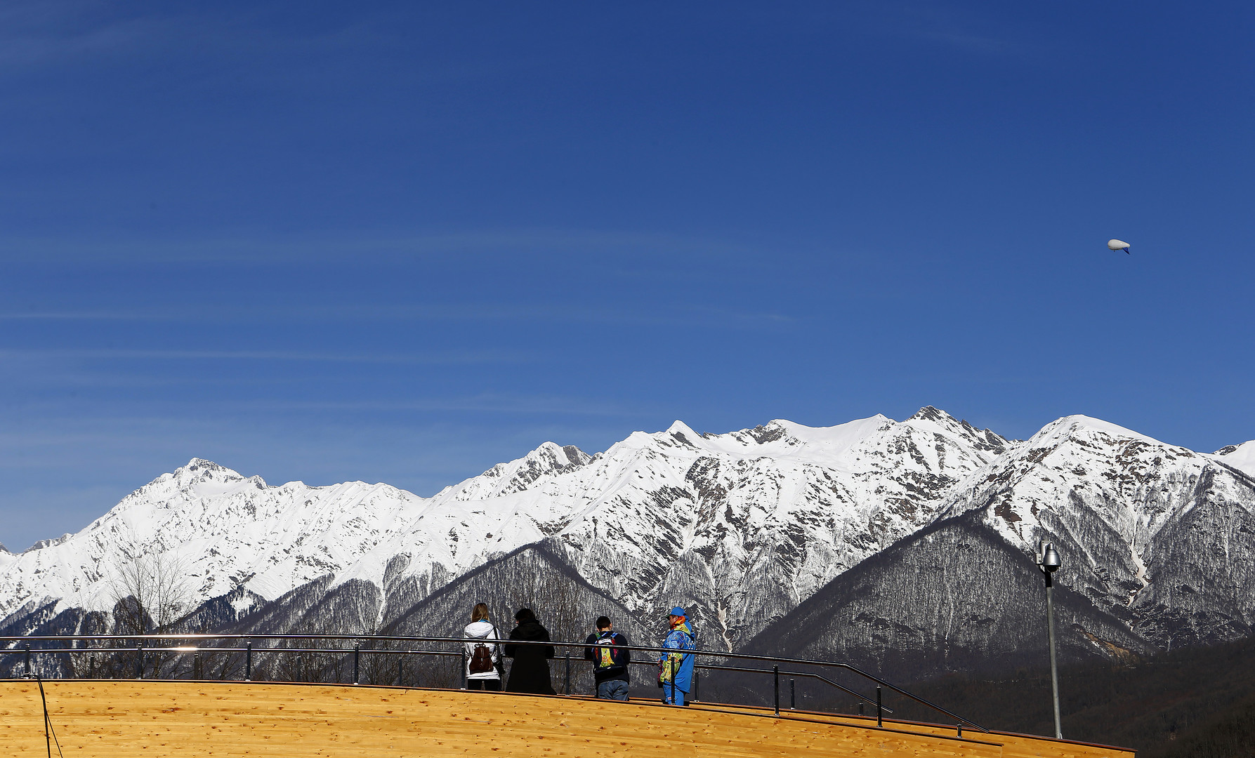 Ausblick vom Sanki Sliding Center in Rosa Khutor, bei Sochi.