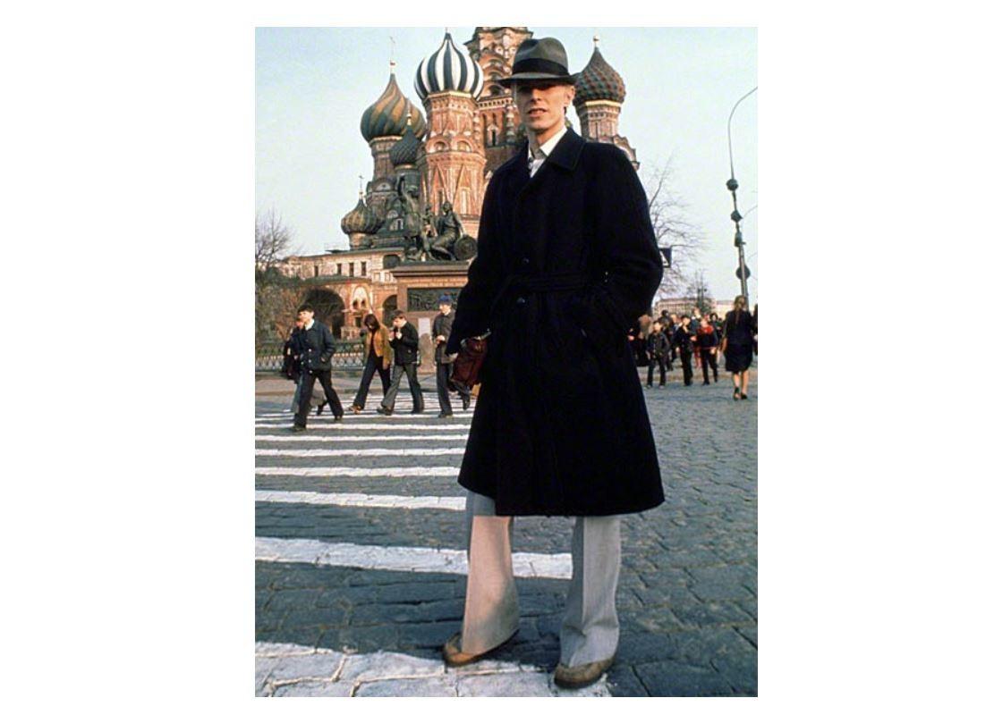 David Bowie auf dem Roten Platz in Moskau, 1976.