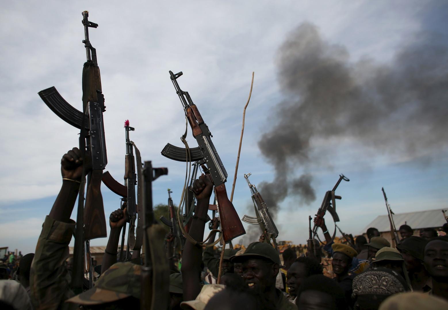 Rebellenkämpfer im Südsudan, Februar 2014.