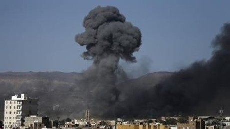 Angriffe auf die jemenitische Hauptstadt Sanaa am Mittwoch. Saba.