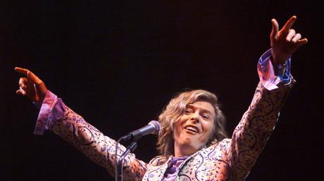 David Bowie als Headliner beim Glastonbury Rockfestival im Jahr 2000.