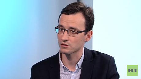 Iwan Blagoij, russischer Journalisten von Pervij Kanal brachte den