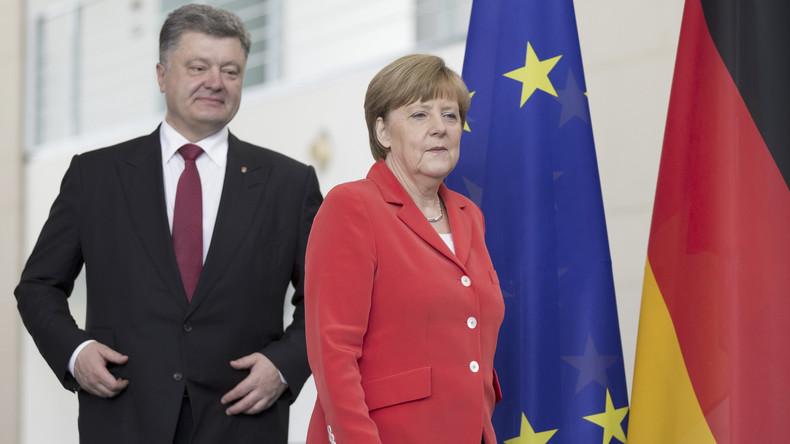Live: Kanzlerin Merkel und Ukraines Präsident Poroschenko geben gemeinsame Pressekonferenz