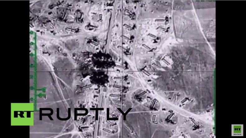 Syrien: Öltanker des Islamischen Staats durch russische Luftangriffe zerstört