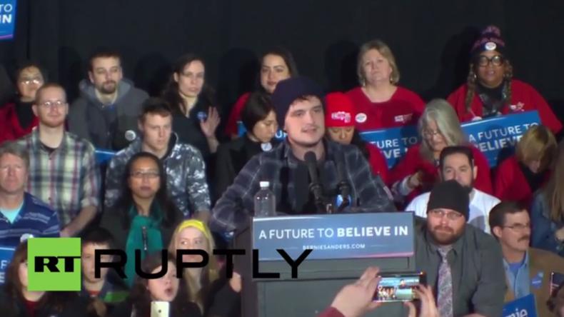 Schauspieler Josh Hutcherson über Bernie Sanders: Es ist Zeit für einen Präsidenten für die 99%