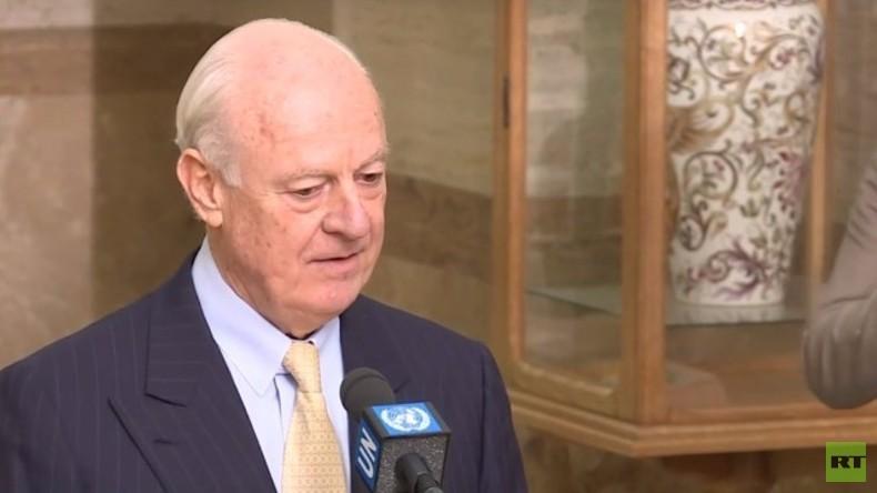 Live: UN-Gesandter für Syrien Mistura gibt Presseinformation zu Syrien-Gespräche in Genf