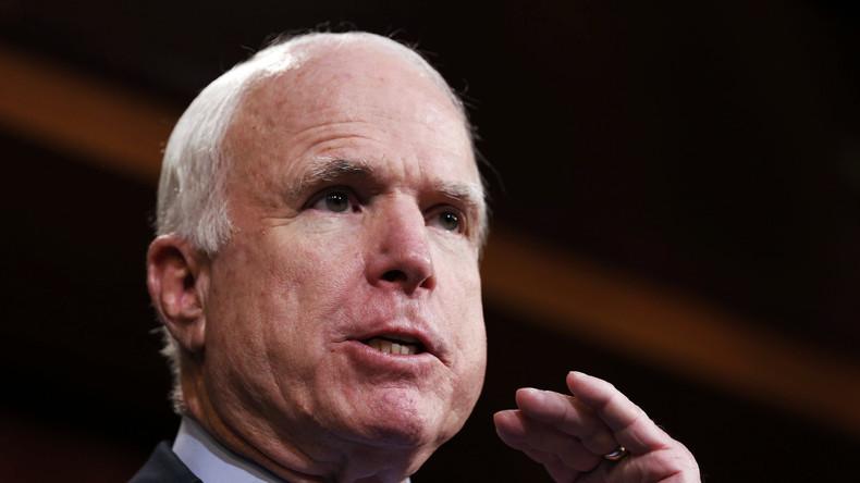 John McCain bei einer Rede im Juni 2014 in Washington.
