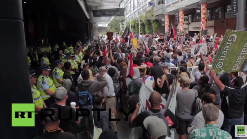 Neuseeland: Tausende protestieren gegen die Unterzeichnung des Handelsabkommens TPP