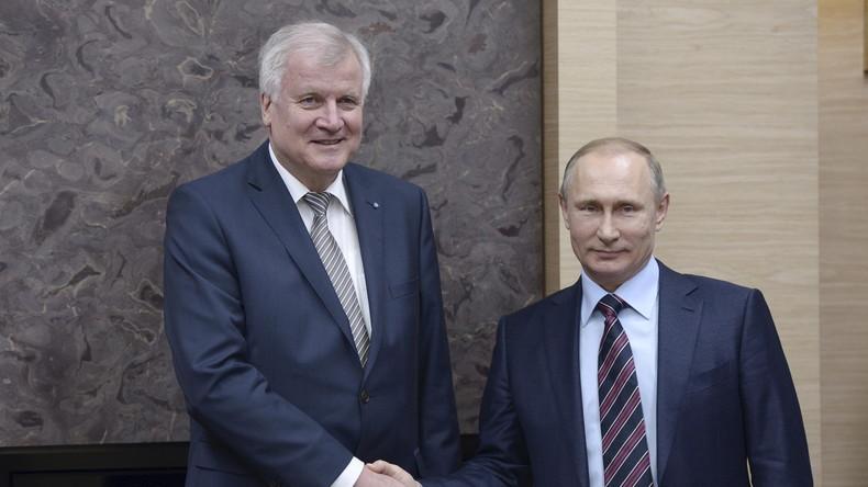 Live: Horst Seehofer in Moskau - Pressekonferenz