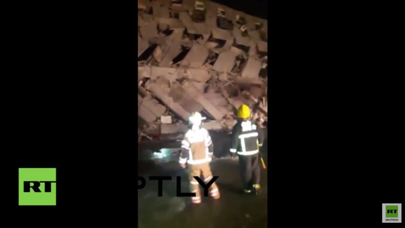 Taiwan: Erdbeben erschüttert Tainan und lässt etliche Gebäude zusammenstürzen