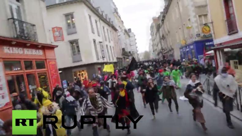 Heftige Zusammenstöße bei Karnevalsmarsch gegen neuen Flughafen in Frankreich