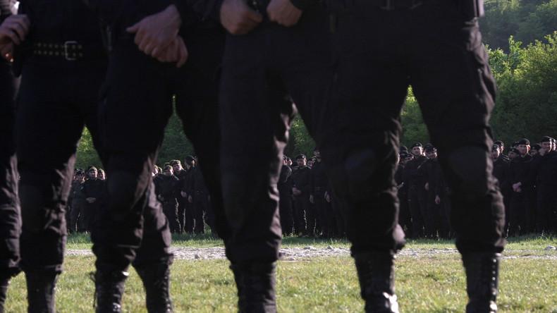 Jetzt auch in Syrien und Irak im Einsatz? Die tschetschenische Spezialeinheit Terek bei einem Trainingseinsatz in Grosny