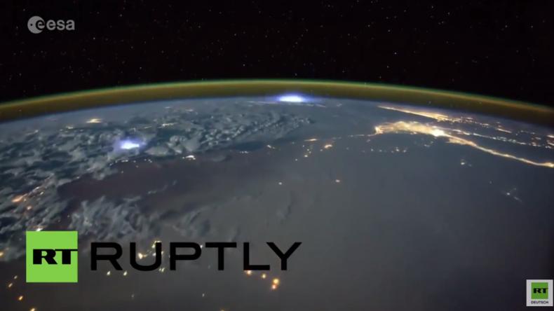 ISS: Zeitrafferaufnahme zeigt dramatische Gewitter auf der Erde